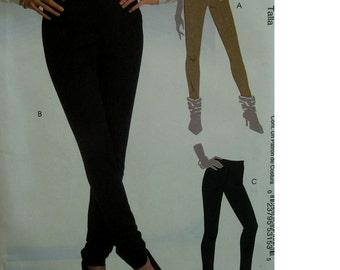 Close Fitting Pants Pattern, Leggings, Shaped Waistband, Mock Fly, Pull-on, Elastic Waist,  McCalls No. 5273 UNCUT Size 14 16 18 20