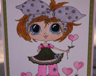 Birthday Card, Sherri Baldy Design, Birthday Love Garden, Birthday for her, Birthday Heart Flowers