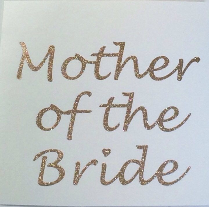 Glitter Mother Of The Bride Decal Wedding Party Decal Bridal