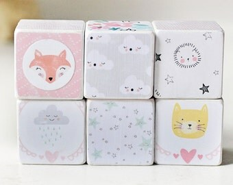 cute  wooden decorative blocks