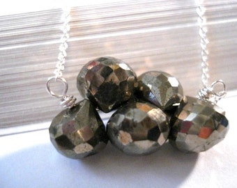 Rock Steady - Handmade Pyrite and Sterling Silver Necklace
