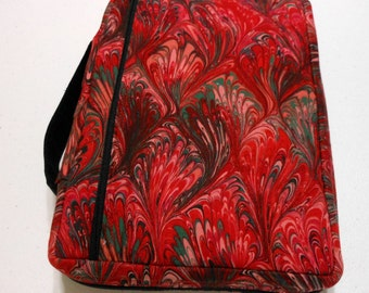 Bible Cover Red and Green Swirls