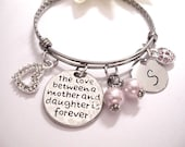 SALE NOW Mother and Daughter Jewelry, Mother Daughter Bracelet, Mother Daughter Jewelry, The Love Between a Mother and Daughter is Forever