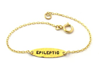 Epileptic bracelet, Epileptic jewelry, 14k Gold-Filled bracelet