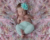 Girl Pink Photo Prop Fringe Blanket for Girls. Baby Girls Textured Multicolor Pink Aqua Mint White etc. Mix