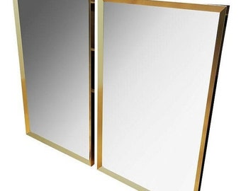 MOVING SALE Large Brass-Framed Mirror - 2 Available