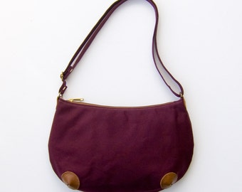 "Mini ""Round-the-World"" Bag - Burgundy Red"