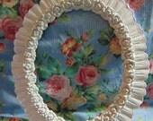 Oval Mirror,Shabby Chic Mirror, Rose Mirror, Vanity Mirror, Wall Mirror, Vintage Mirror, 17 inches tall, Choose Color