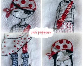 Pirates hand embroidery pattern pdf