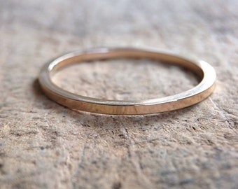 Square Gold Ring Band, Square Ring, 14K Gold Fill Ring, Gold Stackable Ring, Skinny Ring, Bohemian Ring, Bohemian Jewelry, Mother's Day