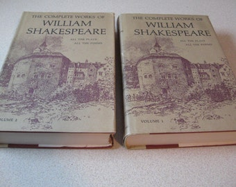 The Complete Works of William Shakespeare All the Plays, All The Poems 2 Volumes Edited by WG Clark W Aldis Wright Doubleday