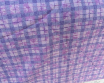 Lakehouse for Michael Miller One Yard Cotton Fabric Pink and Purple Plaid Sewing Quilting Fabric