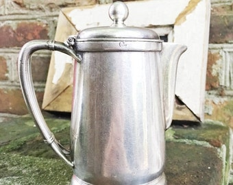 SALE Vintage 1949 Silver Plated Teapot from Great Northern Railway