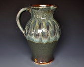 Green Mountain Pottery Pitcher Ceramic Pitcher Stoneware Pitcher Handmade Pitcher Vermont Jug A