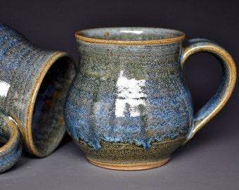 Pottery Mug Ceramic Coffee Mug Stoneware Mug Antique Blue
