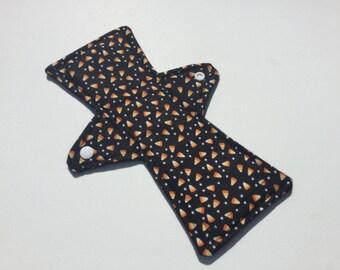10 Inch Cloth Menstrual Pad Regular Flow Candy Corn Halloween