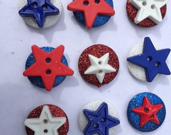 Red, White and Blue Magnets / Teacher Gift / Decorative Magnets / Fridge Magnets / Office Magnets / USA Magnets / Kitchen Magnets