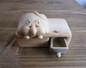 Lazy cat wood box, Wood carving ,Miniature drawer, Woodworking, Wood box, unique miniature, jewelry box