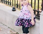 Girls Flutter Tiered Evelyn Dress Diva Eclectic Matilda Jane Style Floral Toddler Infant Girls