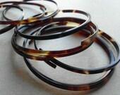 RESERVED - Please do not purchase SALE Tortoiseshell Bracelets Vintage 70s Tortoise Shell Bypass