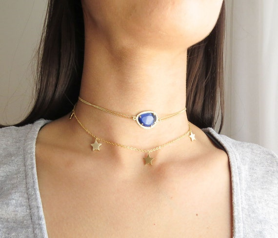 Birthstone Choker | Delicate Gold Choker | Dainty Gold Choker | Diamond Choker | Gemstone Choker | Gold Choker Necklace | Gold Choker