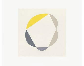 Silkscreen print, large, square print. Minimalist modern original art by Emma Lawrenson