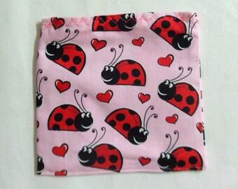 Reusable Sandwich Bag Ladybug Fabric Lunch Bag Reusable Bag Small Toy Bag Lunch Bag Fabric Bag Gift for Girls Travel Snack Bag