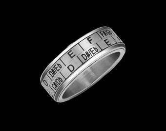 Musician Ring - Music Transposition Spinner Ring / Circle of Fifths