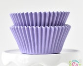 Solid Light Purple GREASEPROOF Cupcake Liners BakeBright Baking Cups | ~30 count