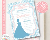 Cinderella Invitation, Cinderella Birthday Invitation, Cinderella Party, Girl First Birthday, Girl Birthday, Cinderella Invite, BeeAndDaisy
