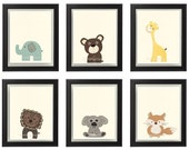 Woodland Animal set, Wall...