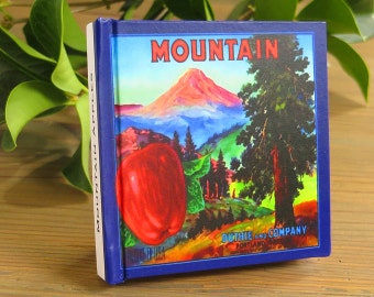 Small Journal - Mountain Brand - Fruit Crate Art Print Cover