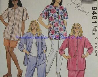 SIze 24 26 28 46 48 50 McCalls Easy 6461 Full Figure Plus Size Shirt Skirt Pants Shorts   Vintage Womens Misses  Uncut Sew Sewing Pattern