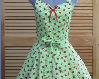 Lady Bugs Full of flounce apron