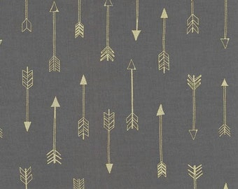 Michael Miller Fabric - Half Yard Arrows in Coin