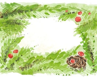 greeting card painted in watercolor