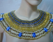 x large Egyptian  Queen Cleopatra Necklace 9 Scarab Mega Sale