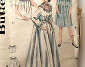 40s Butterick 6997 Lounge Wear Nightgown Peignoir, Bed Jacket Housecoat, Robe Size 12 Bust 30