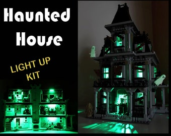Light up kits for 10228 Monster Fighters Haunted House - (Model not included)