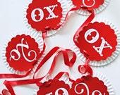 Vintage Valentine Rosette Banner by Loralee Lewis