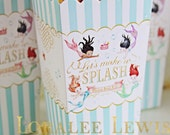 Mermaid Popcorn Boxes by Loralee Lewis