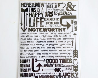 Life Quotes Tim Holtz Ideaology Rub On