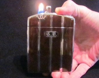 Ronson Twentycase Case Lighter 1940's Enamel Lighter Art Deco Cigarette Case With Box In Excellent Working Condition