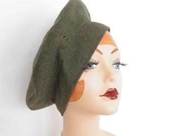 Vintage tilt hat, army green, XL