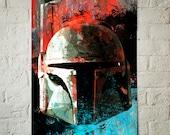 Star Wars Boba Fett, Art Print, Star Wars Poster, Star Wars print, Boba Fett poster, fan art illustration, Star Wars Decor