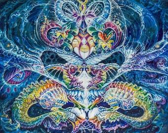 ART PAPER PRINTS: Creation Exhilaration - I know who I am