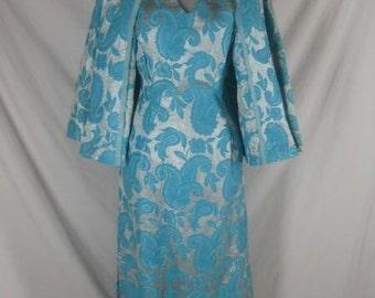 Vintage 1950s Lurex Dress & Coat Set - 50s Remarkable!!!