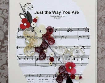 ON SALE Quilled Anniversary / Wedding Card - Just the Way You Are