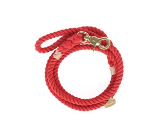 Rope Dog Leash, Red