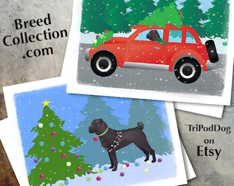 Chinese Shar Pei Dog Christmas Cards from the Breed Collection - Digital Download  Printable